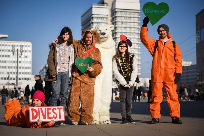 Foto: Global Divestment Day Berlin / Fossil Free 2015