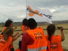 Fossil Free Aktivisten beim Besuch am Tagebau / Foto: Isabell Eberlein / Fossil Free