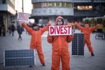 Klare Worte für Berlin / Foto: Fossil Free
