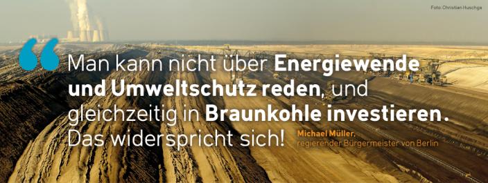 Michael Müller zu Klimaschutz und Investitionen
