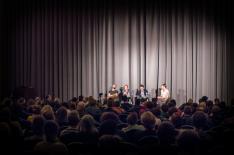 Paneldiskussion nach dem Film: Wie bremsen wir 2016 den Klimawandel, und wie machen wir die Klimabewegung noch stärker? (27. September 2015 / Foto: Jonas Schwendrat / Fossil Free Berlin)