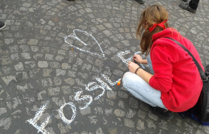Fossil Free Aktivisten aus aller Welt trafen sich in Paris / Foto: Isabell Eberlein