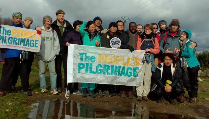 Klimapilger auf dem Weg nach Paris / Foto: Angelina Stercken